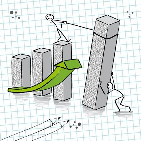 Teamwork, groei Stock Illustratie