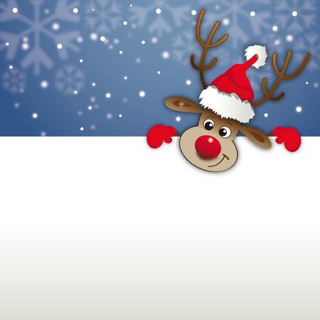 Rednosed reindeer Vector