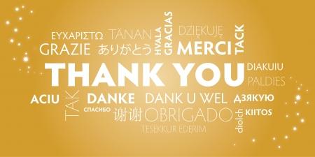 Dank u Wolk van Word in verschillende talen Stock Illustratie