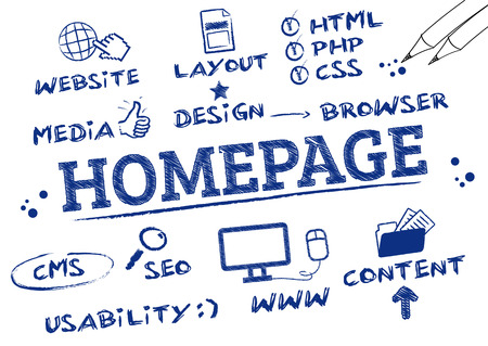 Homepage Concept Vector