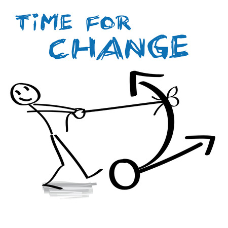change concept: Tiempo para el cambio concepto Vectores