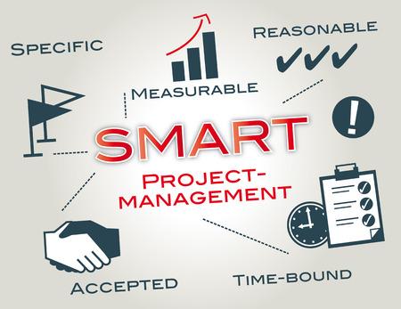 management concept: Concepto elegante de la gesti�n de proyectos