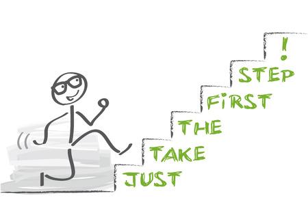Motivatie is de drijvende kracht die de flux veroorzaakt van verlangen om te willen in het leven Stock Illustratie