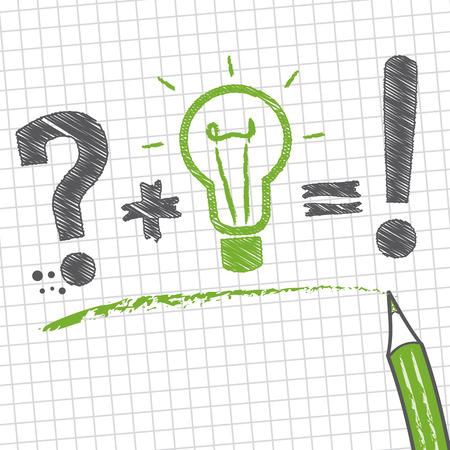 問題の解決策を見つけるため、整然とした方法で一般的なまたはアドホック メソッドを使用して成っている問題の解決  イラスト・ベクター素材