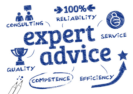 Expert advice  Chart with icons and Keywords Imagens - 29902549