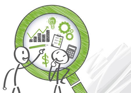 管理制御システムは、人間、物理的、財政的のような別の組織のリソースと組織の戦略を考慮した全体としての組織のパフォーマンスを評価するた  イラスト・ベクター素材