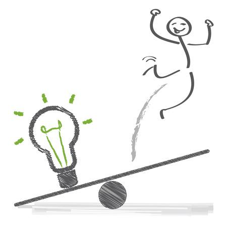 goed idee: hebben een goed idee en succes