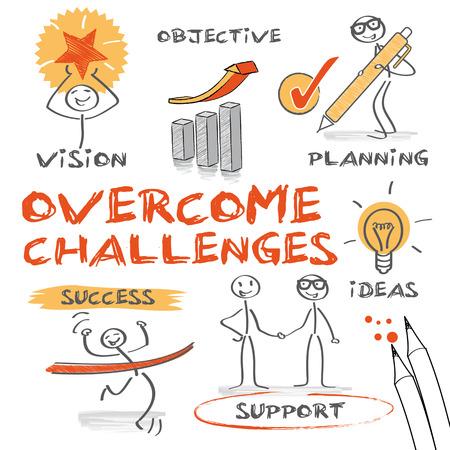 課題を克服する - あなたの目標に達する  イラスト・ベクター素材