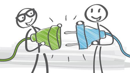 Conectar - cómo instalar una nueva toma de corriente Foto de archivo - 32509869