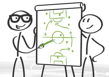 戦略とコンサルティング - フリップチャートに戦術