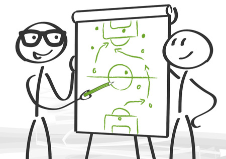 strategy and consulting - tactics on the flipchart