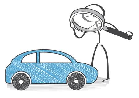 inspeccion: inspecci�n del autom�vil - tomar una mirada m�s cercana