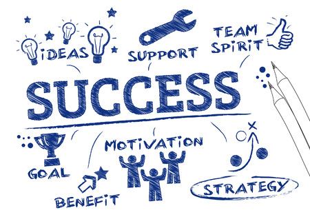 success concept, keywords and icons Stok Fotoğraf - 33384463