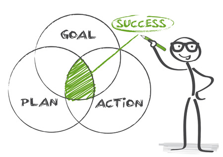 goal plan action success Ilustracja