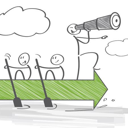 Gruppo di persone che lavorano insieme per raggiungere un obiettivo comune