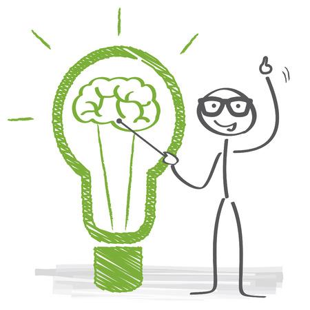 電球アイデア ベクトル図をフリーハンドします。 写真素材 - 34655550
