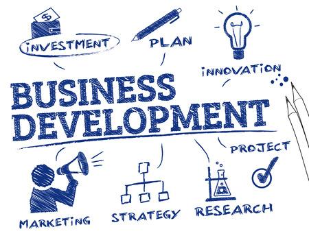 사업 개발. 키워드 및 아이콘 차트
