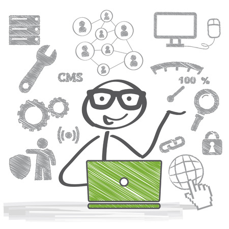 A system administrator is a person who is responsible for the upkeep, configuration, and reliable operation of computer systems Vector
