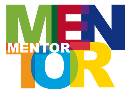 transparent letters forming the word mentor Illustration