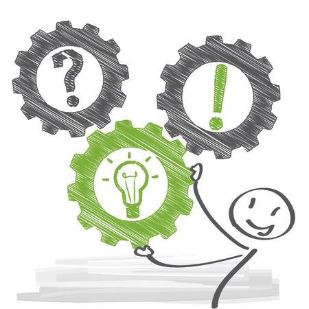 Koncepcja rozwiązania problemu i ilustracje Ilustracje wektorowe