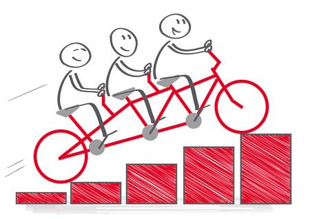 チームワークと企業の利益。ベクトル図 写真素材 - 37928368
