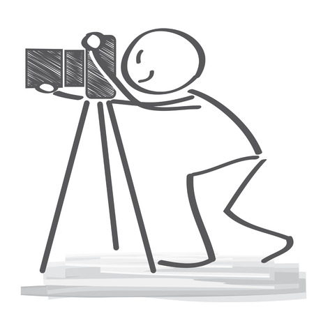 expert: photographer using a professional camera Illustration