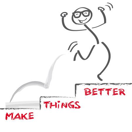 gestion del tiempo: imagen vectorial hacer las cosas mejor Vectores