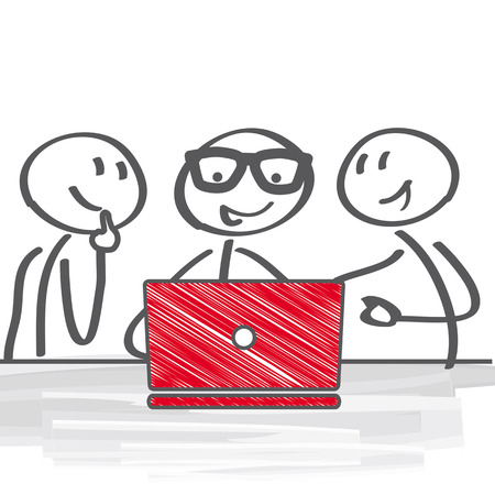 Business people Having Meeting Illustration