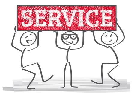 servicio al cliente: Representante de servicio al cliente en la oficina Vectores