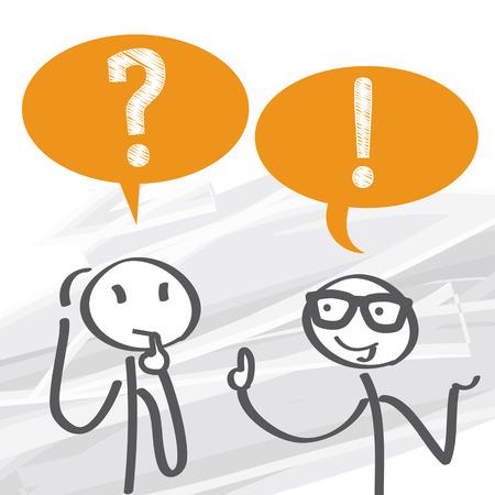 dialogo: Preguntas Frecuentes - ilustración vectorial
