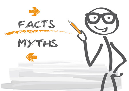 facts: myths and facts - vector illustration