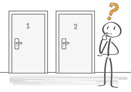 toma de decision: Toma de Decisiones ilustración vectorial Vectores