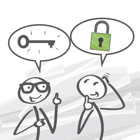 company secrets: la chiave del successo - illustrazione vettoriale