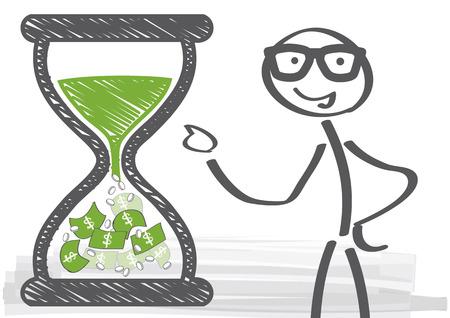 pieniądze: inwestycji długoterminowych Ilustracja