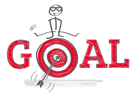 How to reach goals - Illustration Stock fotó - 43587815
