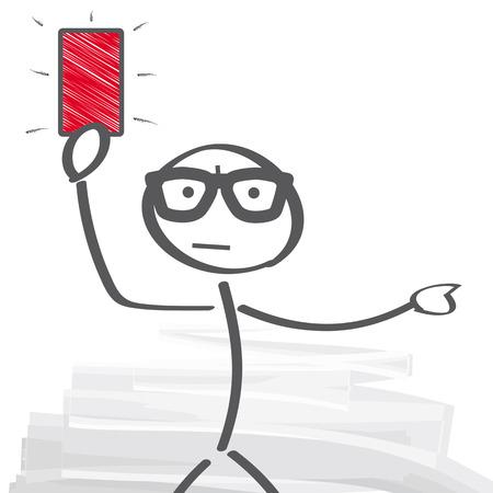 arbitro: Árbitro que muestra la tarjeta roja