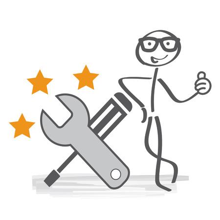 best service - vector illustration Çizim