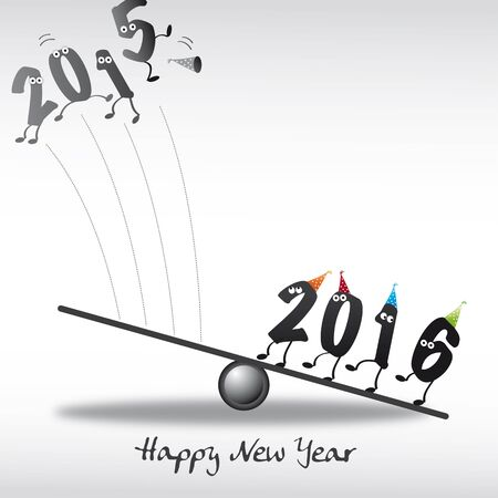numerical value: 2016 New Year greeting card