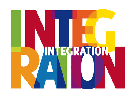 transparency: Integration - colorful, transparency word Illustration