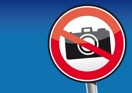 no label: No camera vector illustration