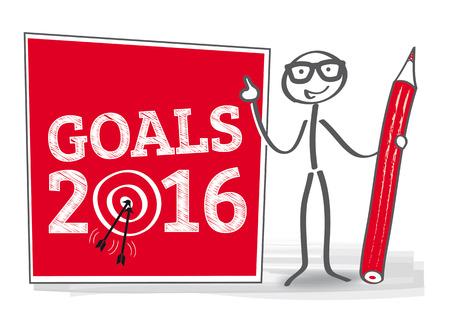 2016 cible - illustration vectorielle
