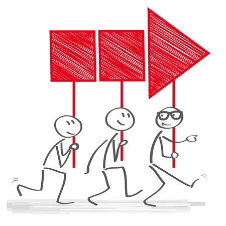 integridad: Gerente dirige el grupo de empleados Vectores