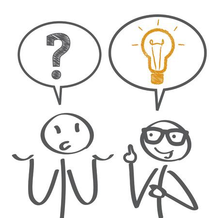 Rozwiązywanie problemów - ilustracja Ilustracje wektorowe