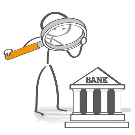 Vind en vergelijk de beste banken Stock Illustratie