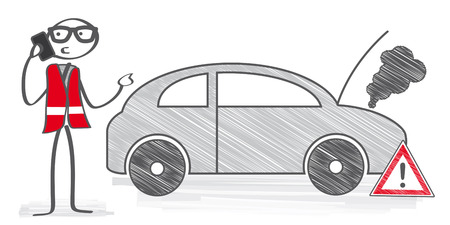 afbraak - stick man belt technische autodienst