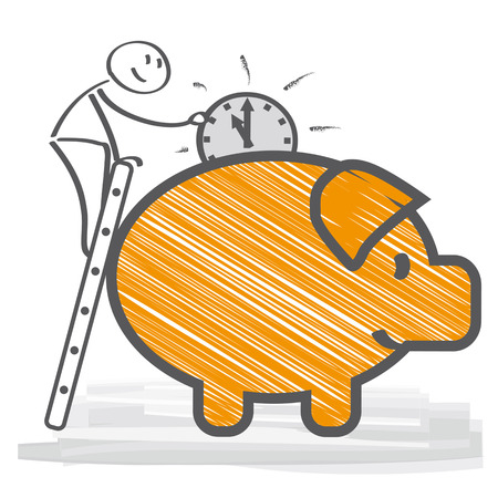 Time is Money Piggybank Illustration