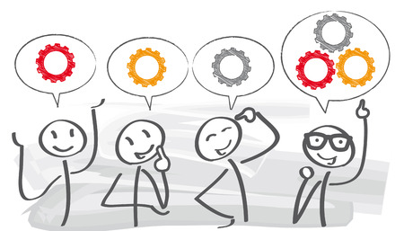 Brainstorming kreative Team-Konzept Illustration