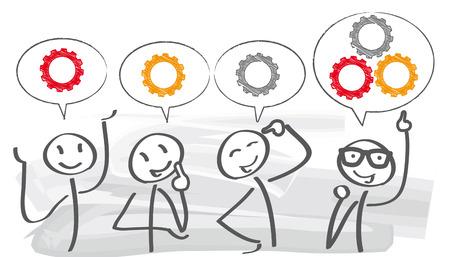burzy mózgów koncepcji kreatywnej team Ilustracje wektorowe