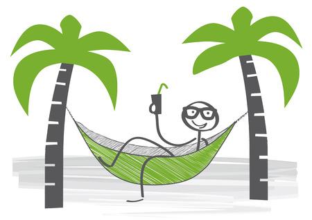 stickman swinging in a hammock