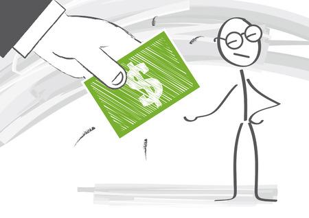 bribe: Giving a bribe illustration